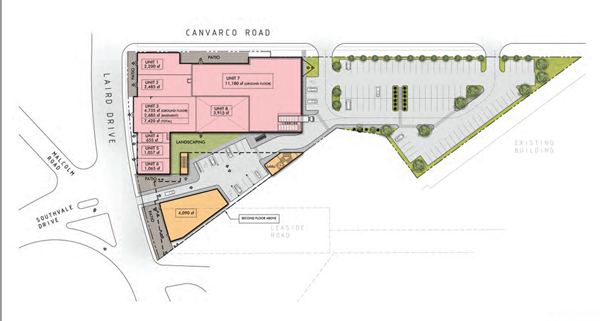 33 Laird Site Plan