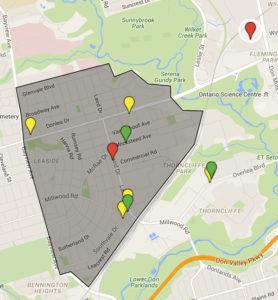 Leaside Development Map