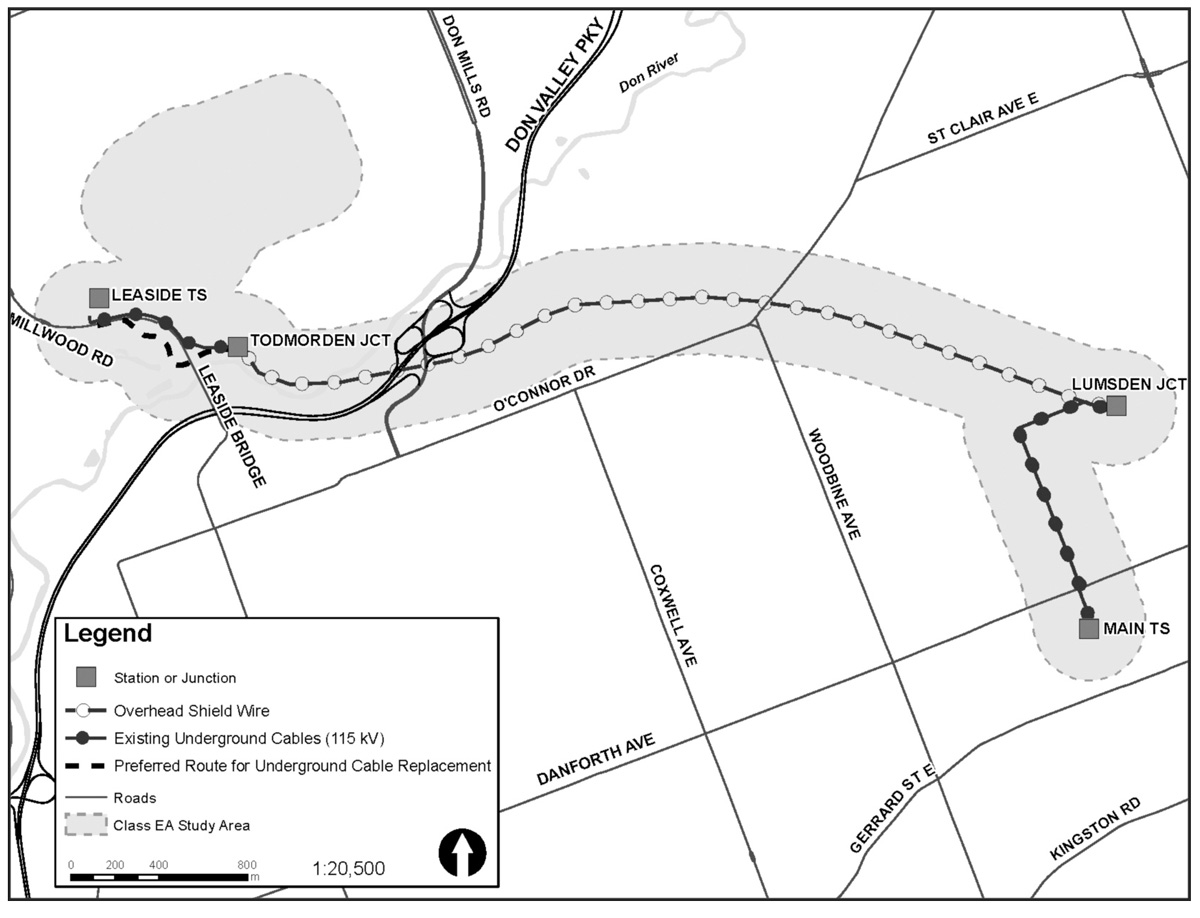 Leaside Hydro routing