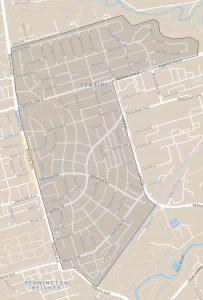 Leaside map